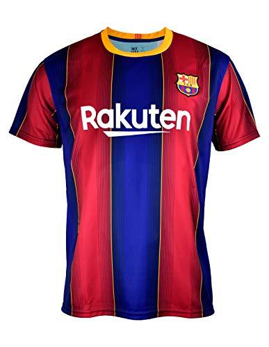 Camiseta Replica FC. Barcelona 1ª EQ Temporada 2020-21 - Producto con Licencia - Dorsal Liso - 100% Poliéster - Talla…