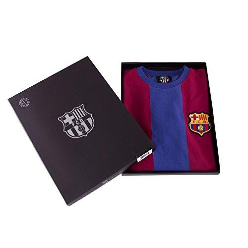 Copa FC Barcelona 1973-74 Retro Football Shirt Camiseta de Cuello Redondo Retro de fútbol Hombre