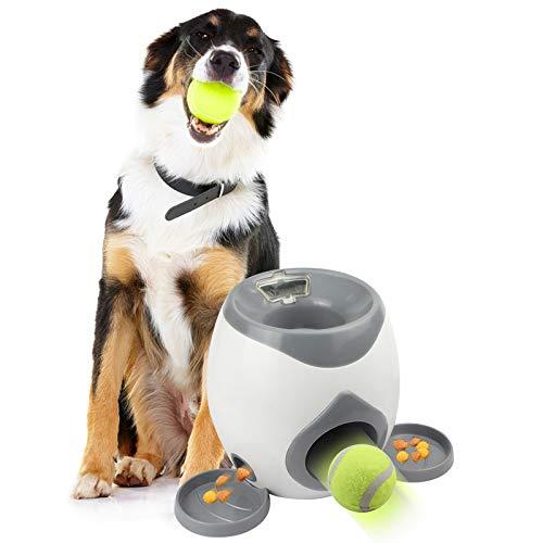 Eighty Lanzador de pelotas de tenis para mascotas, juguete de lanzamiento, lanzador automático de bolas de juguete para…