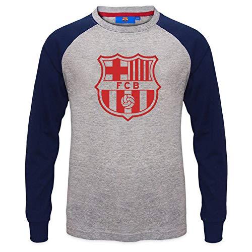 FC Barcelona - Camiseta oficial con mangas raglán - Para niños - Con el escudo del club