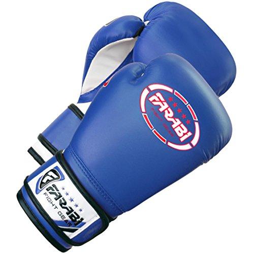 Farabi Sports - Guantes de boxeo para niños (piel sintética, 113 g), color azul