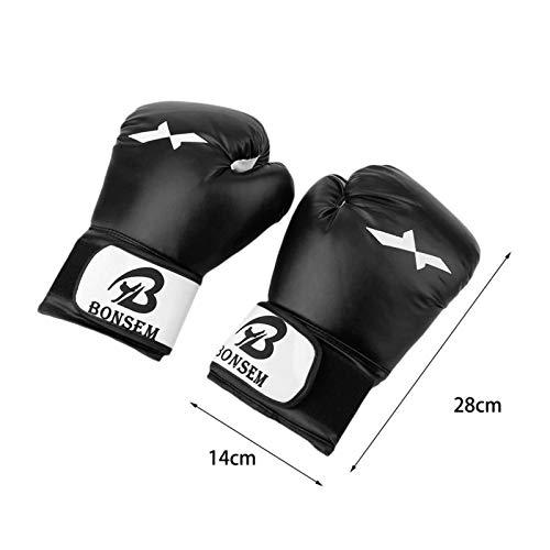 Guantes de Boxeo Hombre,Cuero de PU,para Sparring, Kick Boxing para Saco Boxeo, Combate Training, Boxing Gloves para…