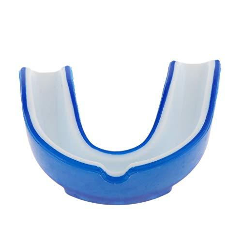 Inzopo - Protector bucal de silicona para boxeo y artes marciales mixtas, 2 unidades, color azul