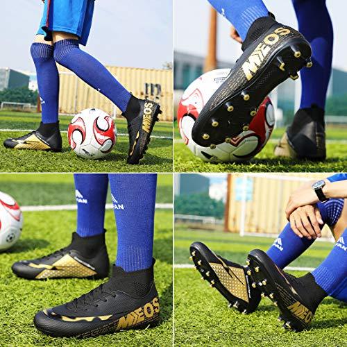 LIANNAO Botas de Fútbol para Hombre Spike Aire Libre Profesionales AtletismoTraining Deporte Zapatillas de Fútbol Hombre…