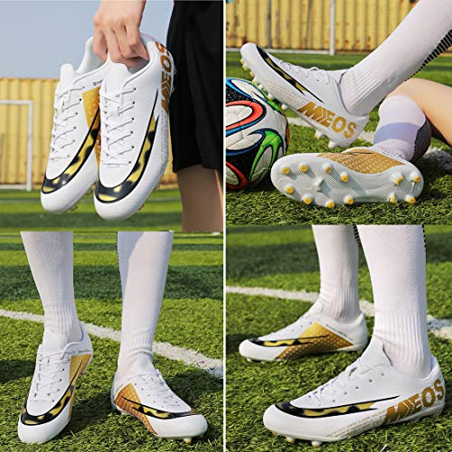 LIANNAO Zapatos de Fútbol Hombre Spike Aire Libre Profesionales Atletismo Training Botas de Fútbol Ligero Tacos Futbol…