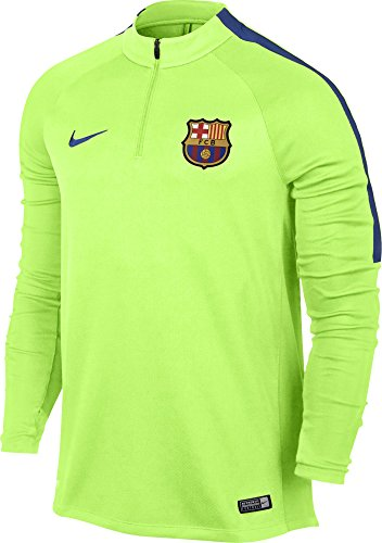 NIKE FCB M Nk Sqd Dril Camiseta de Manga Larga FC Barcelona Hombre