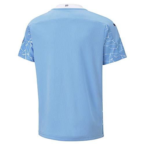 PUMA Manchester City Temporada 2020/21 - Home Shirt Replica SS Kids with SP Camiseta Primera Equipación Niños