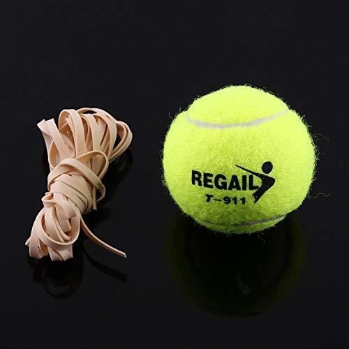 Pelota de tenis con cuerda de goma, útil herramienta de práctica de pelotas de tenis, Pelota de entrenador de tenis con…