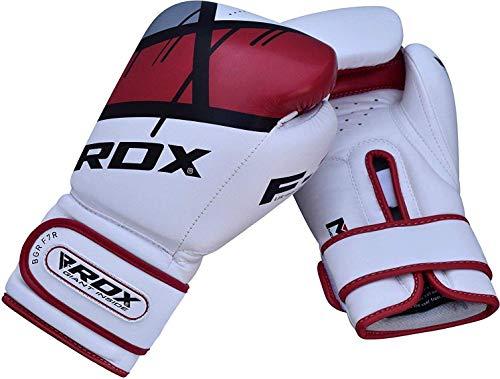 RDX Guantes de Boxeo para Entrenamiento y Muay Thai | Maya Hide Cuero Mitones para Kick Boxing, Sparring | Boxing Gloves…