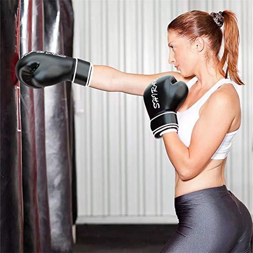 RENYAYA Niños Adultos Boxeo Guantes, Transporte Mitts Punch PU Cuero, Guantes Profesionales Muay Thai Fighting Sandbag…