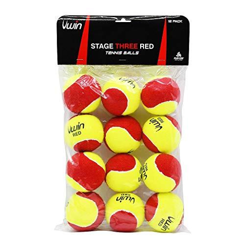 Uwin Stage Three Red Tennis Balls - Pack of 12 balls