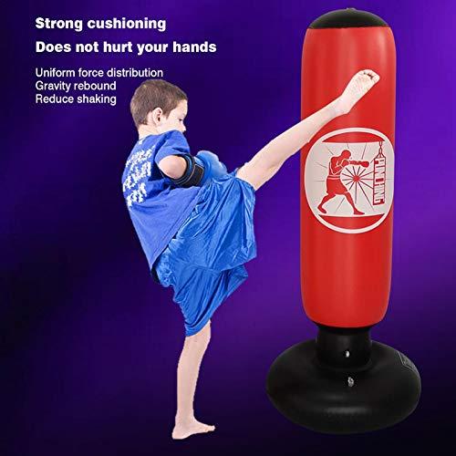 Rainao Saco de Boxeo para niños Saco de Boxeo Inflable de pie Libre para Practicar Karate, Taekwondo, MMA, Juguete de…