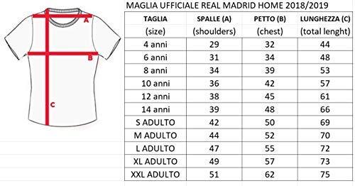 Real Madrid Camiseta de Fútbol Replica Oficial con Licencia Hazard Blanco número 7 en blíster Regalo - Todos Los Tamaños…