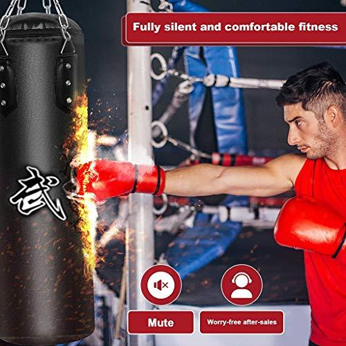 Sacos pesados de boxeo Bolsa de perforación sin relleno, bolsas de boxeo de cuero de la PU de la cadena de acero de…