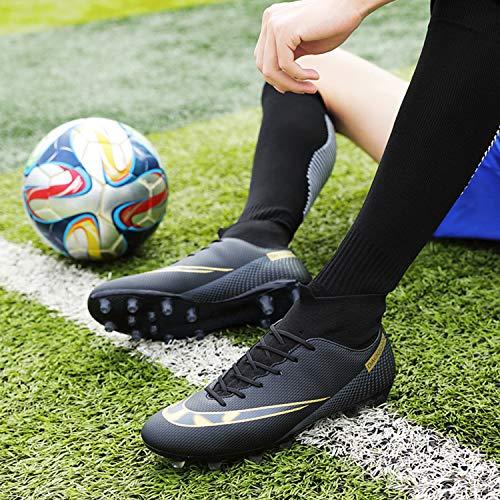 WOWEI Zapatos de Fútbol Hombre Spike Aire Libre Profesionales Atletismo Training Botas de Fútbol Zapatillas de Deporte