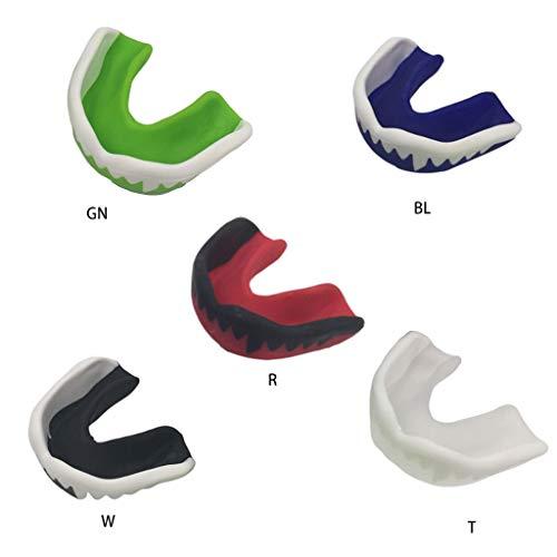 WT-DDJJK Protector bucal, Protector bucal Deportivo para niños Adultos, Protector bucal moldeable Impreso con Dientes de…