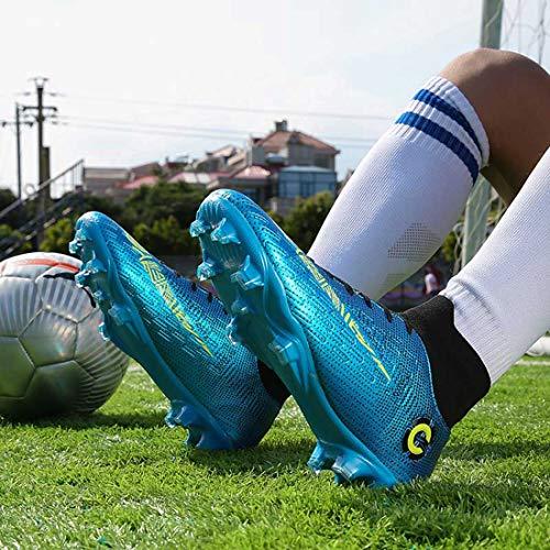 Zapatos de Fútbol para Hombre Spike Aire Libre Atletismo Profesionales Tacos Zapatillas de Fútbol Transpirables Botas