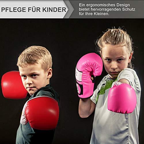 arteesol - Guantes de boxeo para niños, 4 oz, juego de 2 unidades, para entrenamiento de boxeo, saco de boxeo, artes…