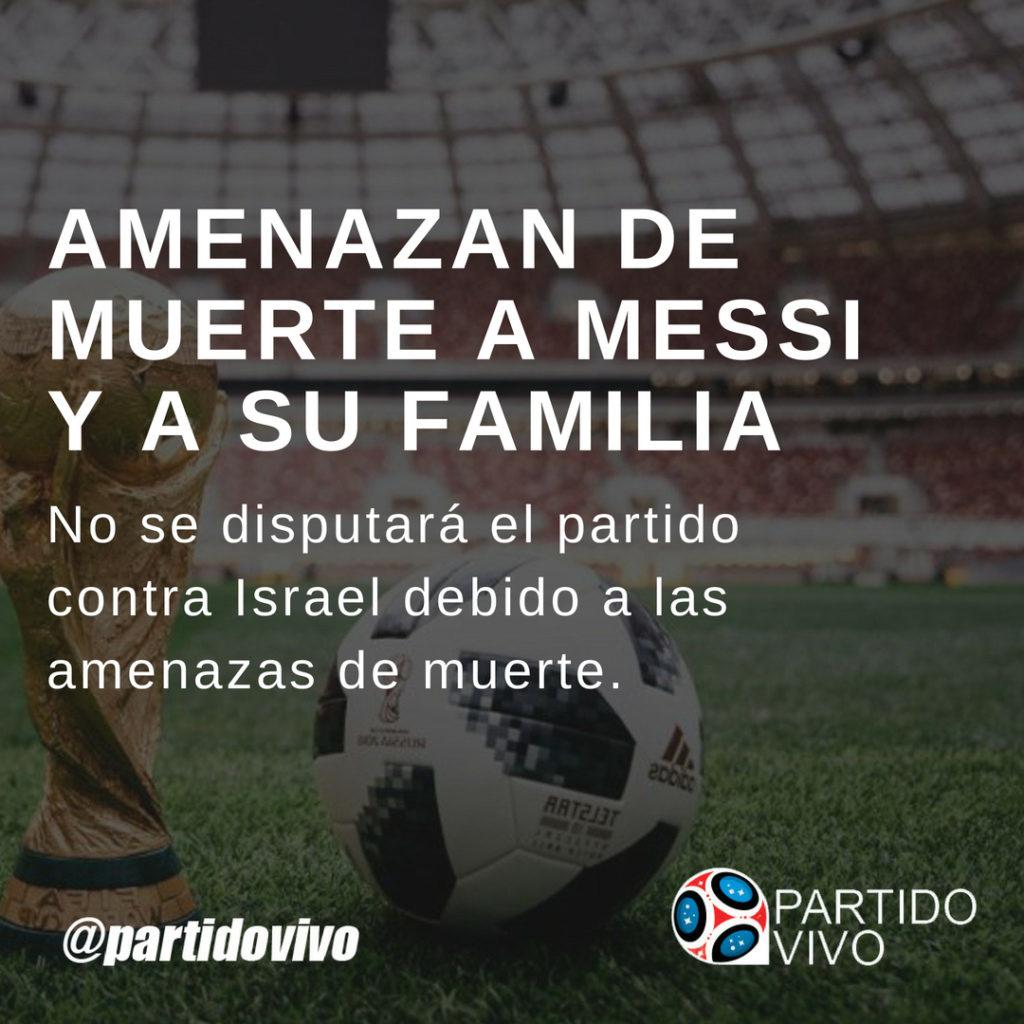 Amenazan de Muerte a Messi