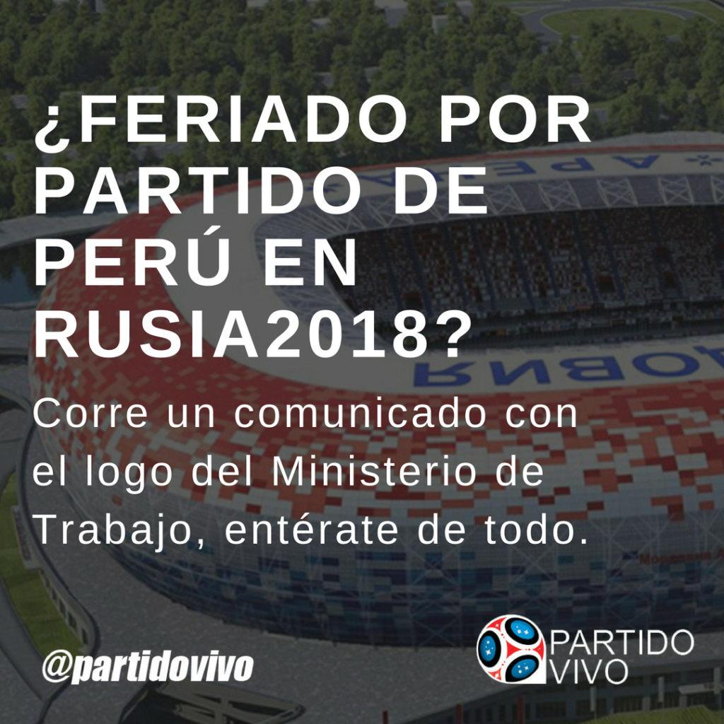 Feriado por Partido de Perú contra Francia