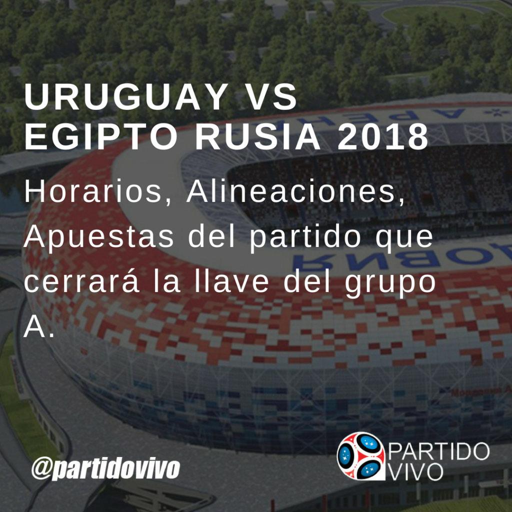 Horarios ver en Directo Uruguay vs Egipto