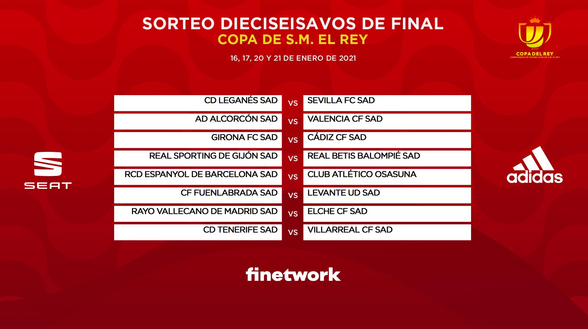 Dieciseisavos de Final Copa del Rey