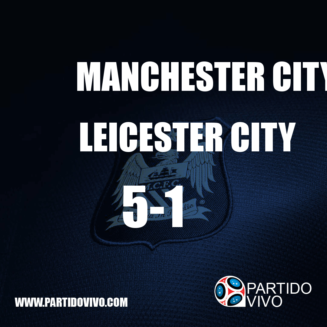 FINAL RESULT: FT - Manchester City 5-1 Leicester City (ESPN) #ManchesterCity