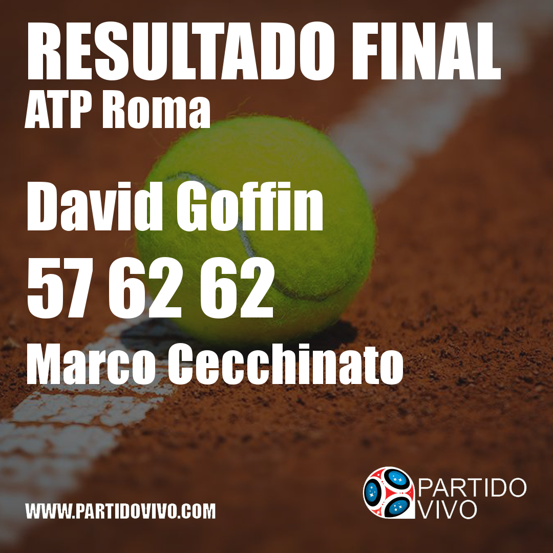 RESULTADO FINAL: David Goffin  57 62 62  Marco Cecchinato #IBI18