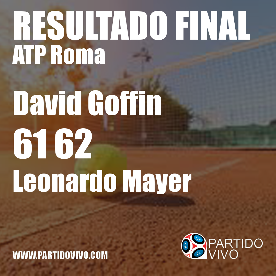 RESULTADO FINAL: David Goffin  61 62  Leonardo Mayer #IBI18