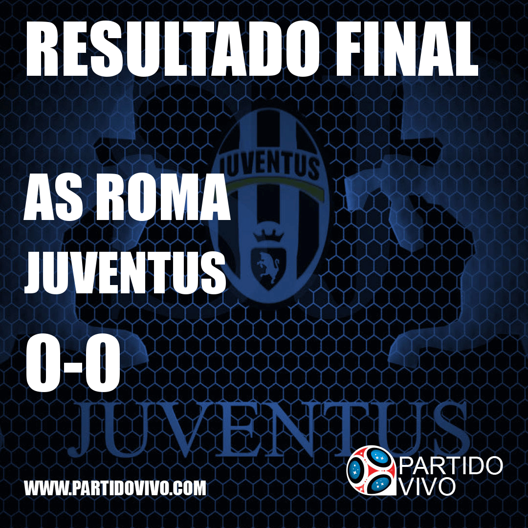 RESULTADO FINAL: FT - AS Roma 0-0 Juventus (ESPN) #FinoAllaFine