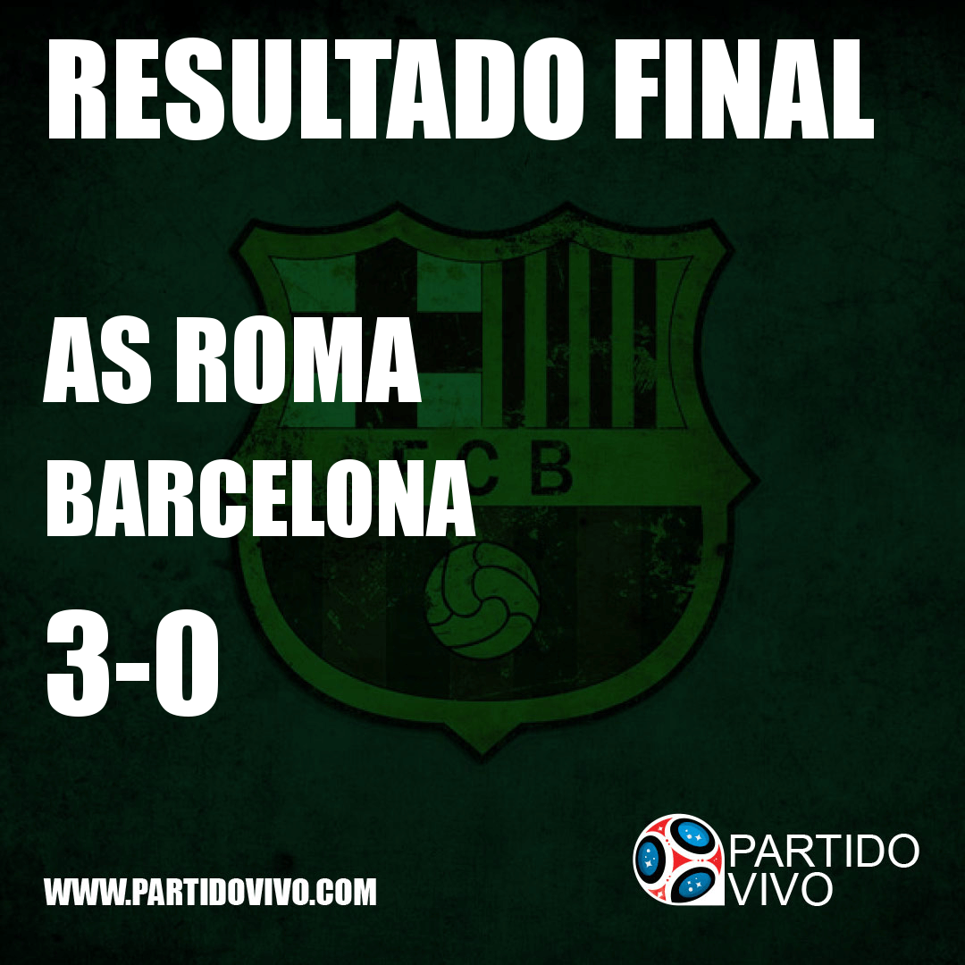 RESULTADO FINAL: FT - AS Roma 3-0 Barcelona (ESPN) #FCB