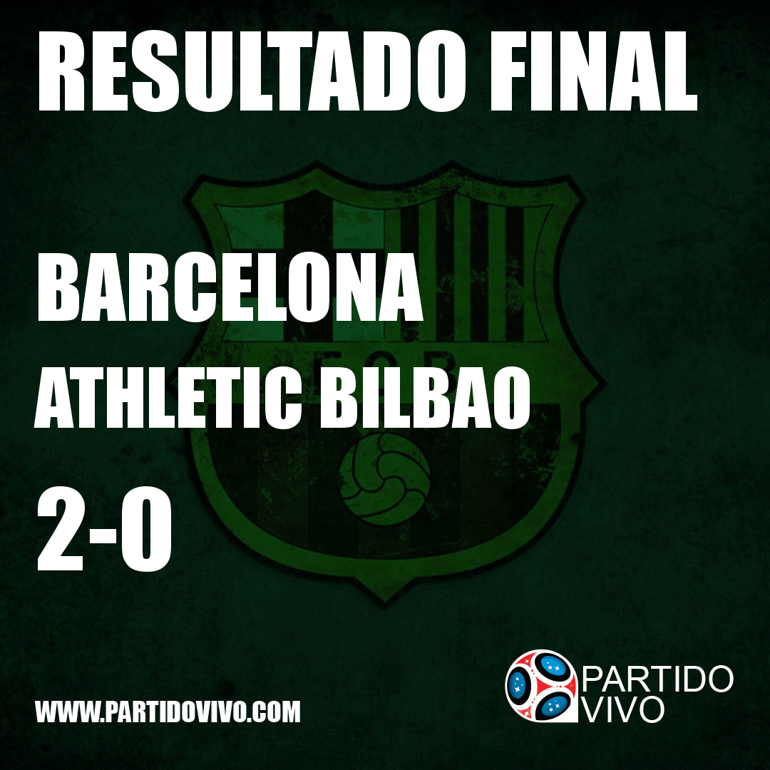RESULTADO FINAL: FT - Barcelona 2-0 Athletic Bilbao (ESPN) #FCB
