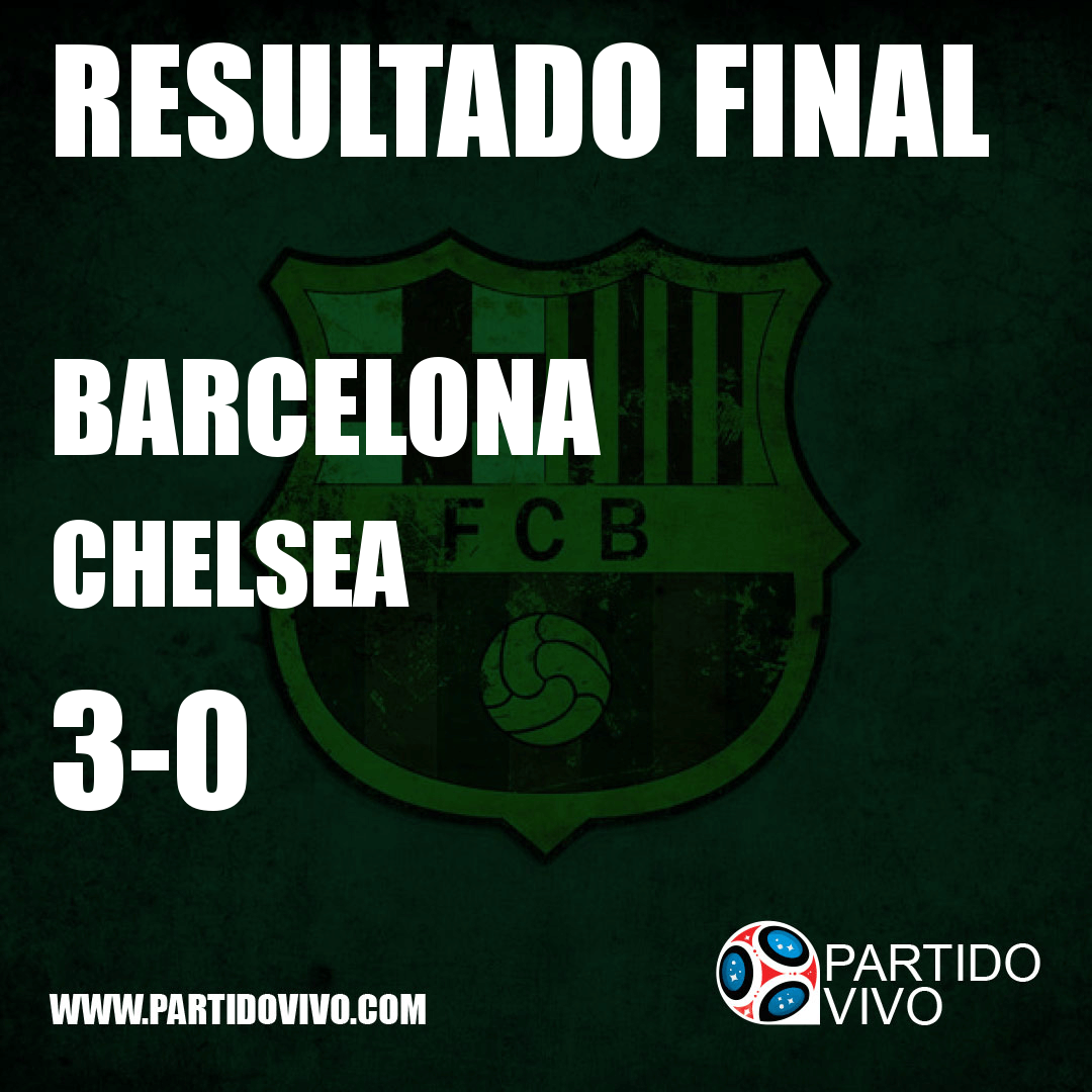 RESULTADO FINAL: FT - Barcelona 3-0 Chelsea (ESPN) #FCB
