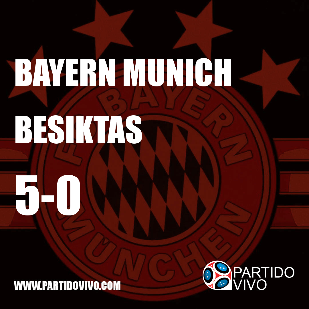 RESULTADO FINAL: FT - Bayern Munich 5-0 Besiktas (ESPN) #Bundesliga