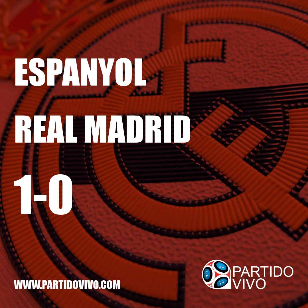 RESULTADO FINAL: FT - Espanyol 1-0 Real Madrid (ESPN) #RMA