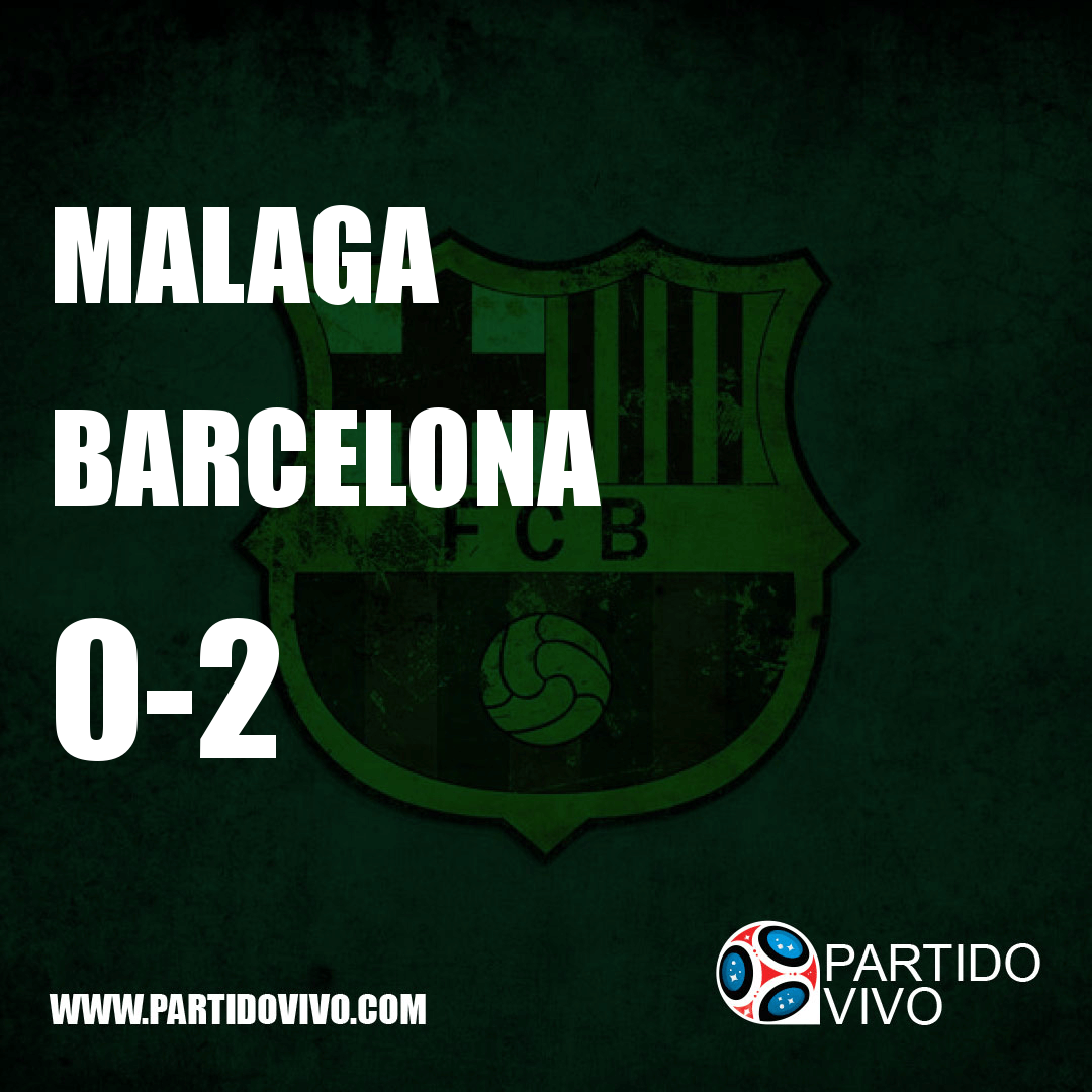 RESULTADO FINAL: FT - Malaga 0-2 Barcelona (ESPN) #FCB