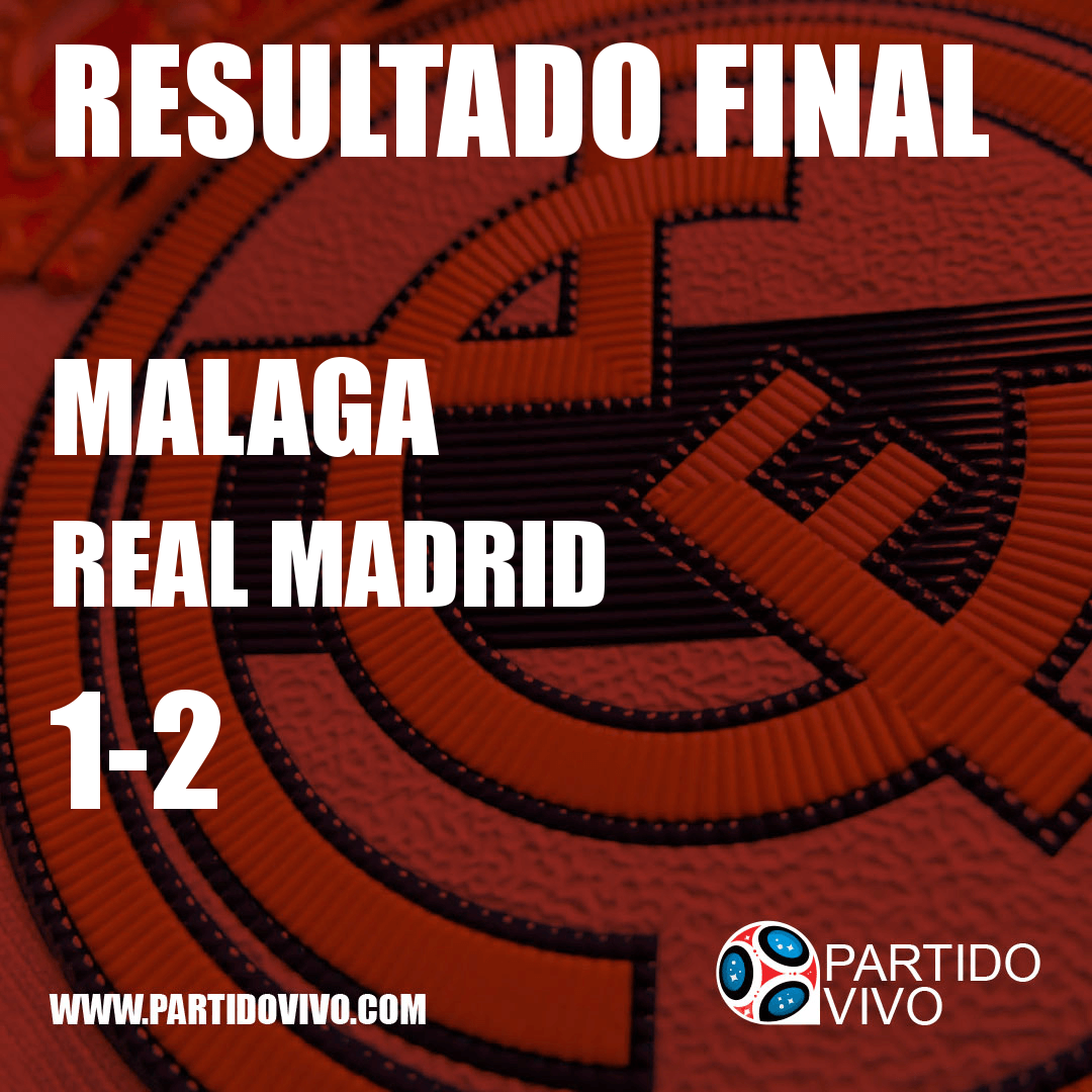 RESULTADO FINAL: FT - Malaga 1-2 Real Madrid (ESPN) #RMA