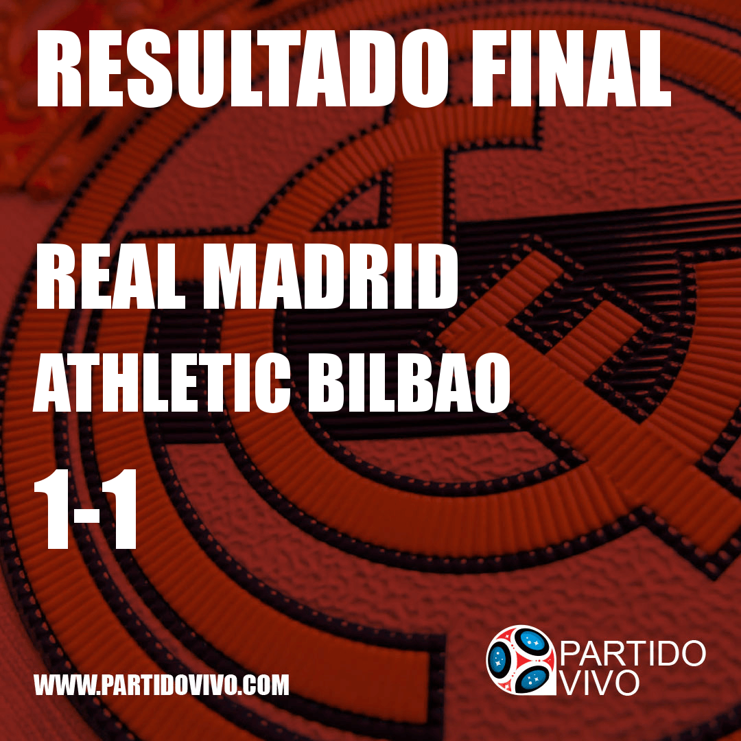 RESULTADO FINAL: FT - Real Madrid 1-1 Athletic Bilbao (ESPN) #RMA
