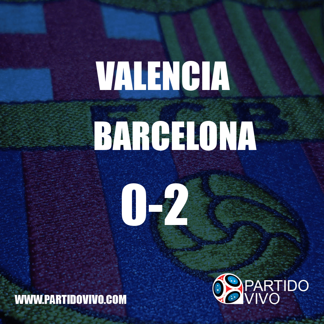 RESULTADO FINAL: FT - Valencia 0-2 Barcelona (ESPN) #FCB