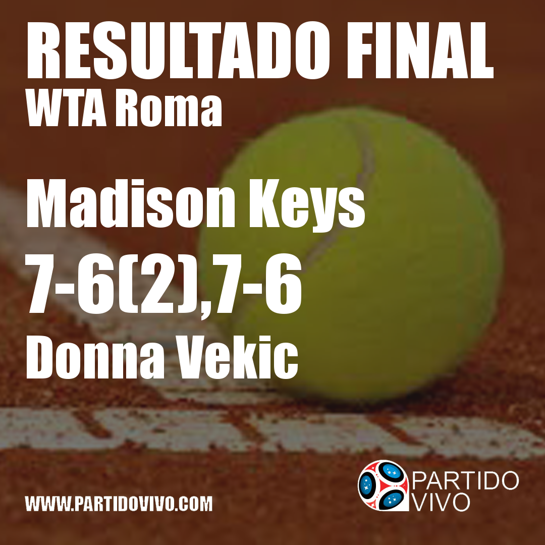RESULTADO FINAL: Madison Keys  7-6(2),7-6  Donna Vekic #IBI18